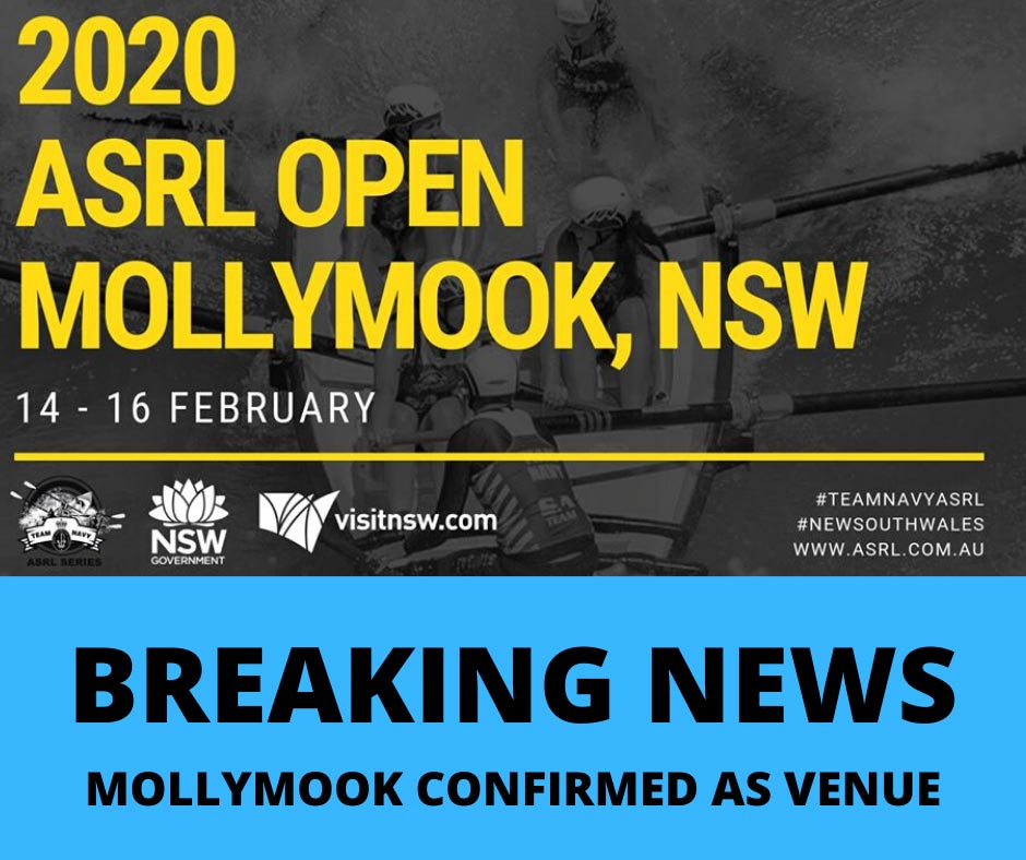 ASRL Open 2020 Mollymook Confirmation