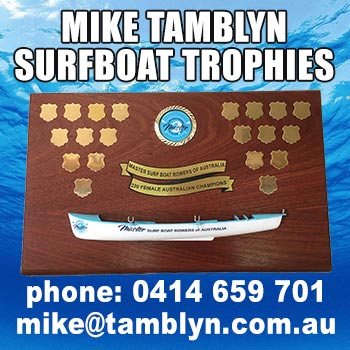 Mike Tamblyn Surfboat Trophies